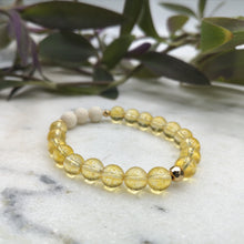 Load image into Gallery viewer, Citrine Essential Oil Diffuser Bracelet