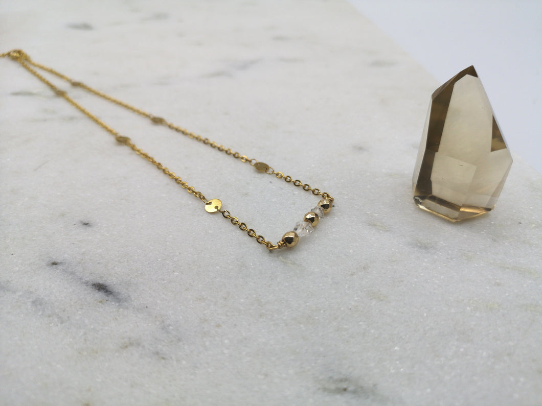 Herkimer Diamond Necklace - April Birthstone