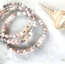 Load image into Gallery viewer, Zebra Jasper & Pearl Anklet