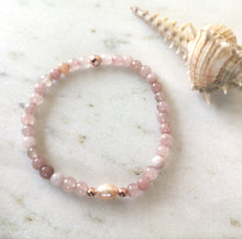 Load image into Gallery viewer, Cherry Blossom Jasper & Pearl Anklet