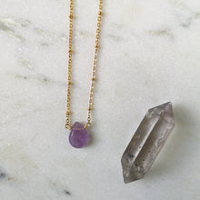 Load image into Gallery viewer, Amethyst Drop Jewelry Set