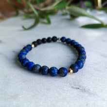 Load image into Gallery viewer, Lapis Lazuli Essential Oil Diffuser Bracelet