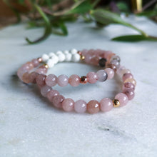 Load image into Gallery viewer, Cherry Jasper Essential Oil Diffuser Bracelet