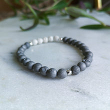 Load image into Gallery viewer, Silver Druzy Essential Oil Diffuser Bracelet