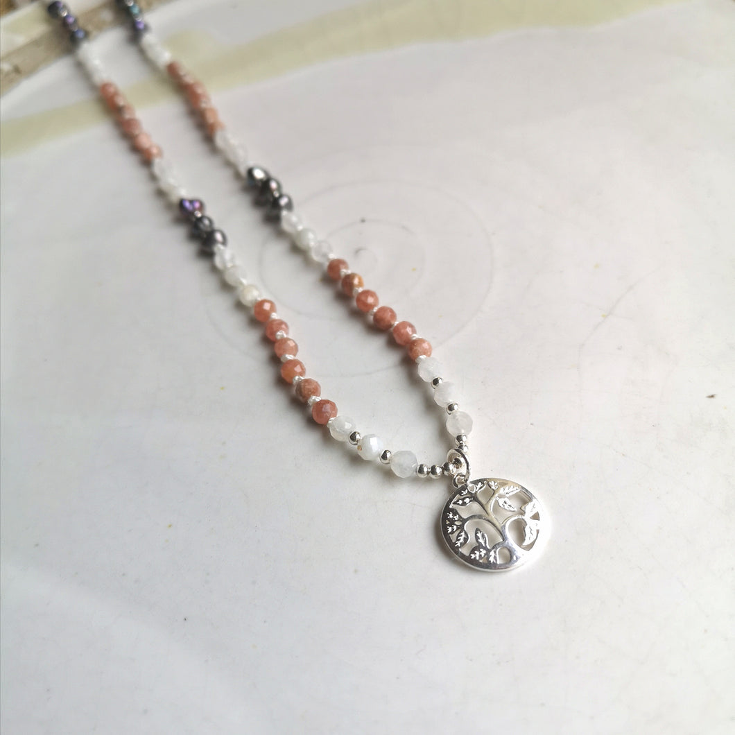 Tree of Life Sunstone Mala