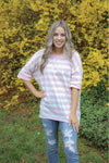 Chevron long sleeve top