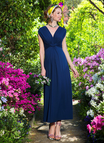 Maternity Maxi Dress Navy Blue Canada