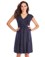 Seraphine maternity polka dot dress cecile