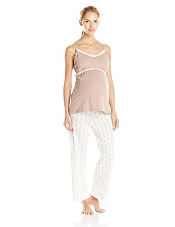 Belabumbum Maternity & Nursing Cami & Pants Queen Bee, Sleepwear,- Luna Maternity & Nursing