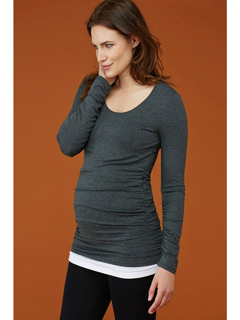 97928d57be33d Isabella Oliver Scoop Neck Maternity Top | Free Ship Canada