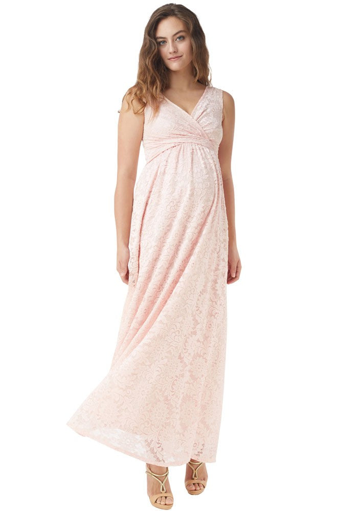 29523751c7a Mothers en Vogue Maternity Nursing Maxi Dress Chantilly