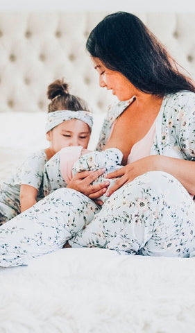 Everly Grey Mom & Baby Maternity & Nursing 5-Piece Set Cloud, Sleepwear,- Luna Maternity & Nursing
