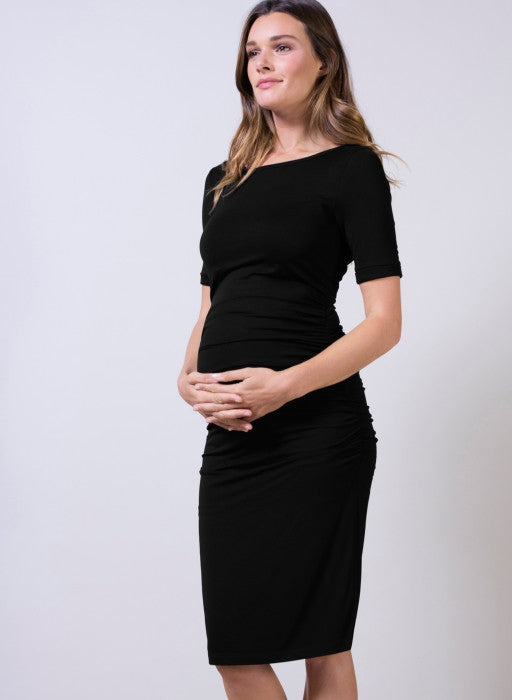 Isabella Oliver Ruched T-Shirt Maternity Dress, Maternity Dresses Canada Nursing Dresses Canada,- Luna Maternity & Nursing
