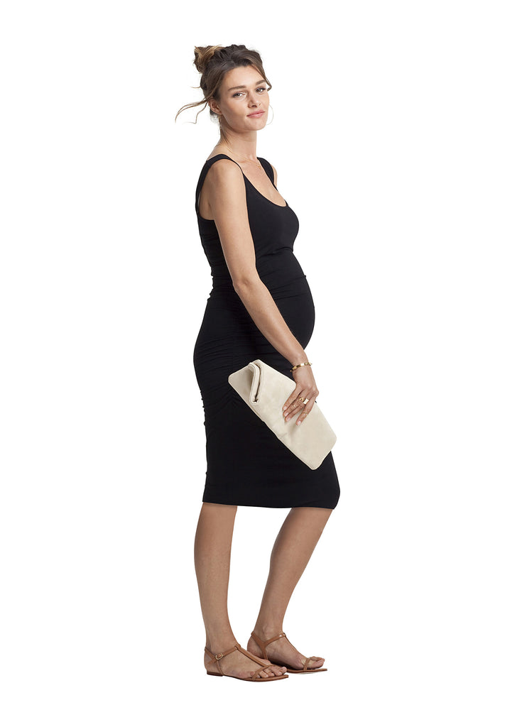 Isabella Oliver Ellis Maternity Ruched Dress Black, Maternity Dresses Canada Nursing Dresses Canada,- Luna Maternity & Nursing