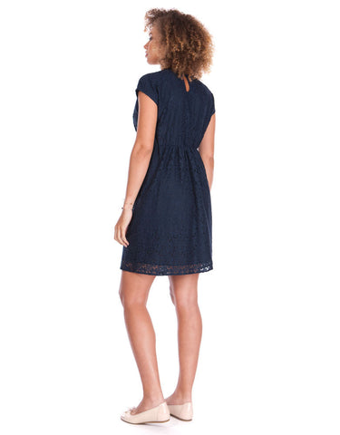 Seraphine Navy Blue Lace Maternity & Nursing Dress Harley, Maternity Dresses Canada Nursing Dresses Canada,- Luna Maternity & Nursing
