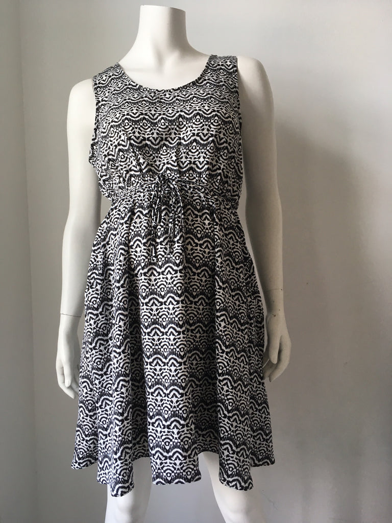 Desire Black & White Maternity Print Dress, Sample Sale,- Luna Maternity & Nursing