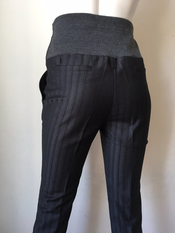 Mama i Ja Maternity Grey Pin Stripe Slim Leg Trousers Size XS, Sample Sale,- Luna Maternity & Nursing