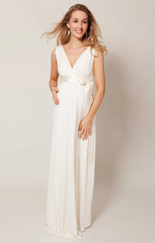 Tiffany Rose Long Maternity & Nursing Gown Anastasia Ivory