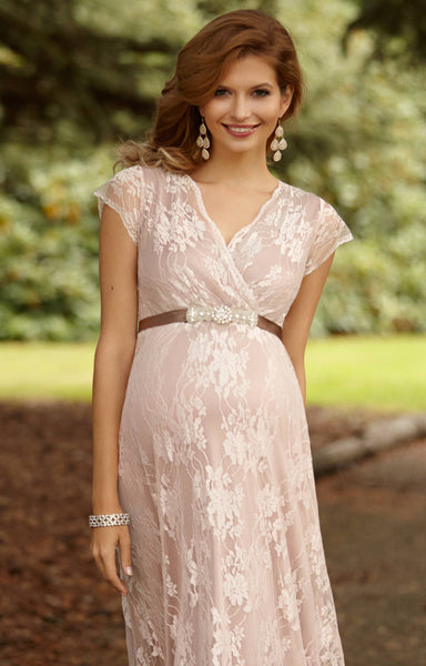 Tiffany rose maternity nursing long gown eden blush free for Postpartum dresses for wedding