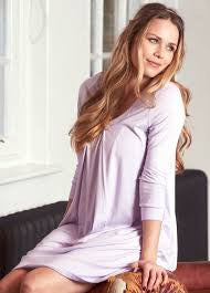 Lilac Maternity & Nursing Nightgown, Sleepwear,- Luna Maternity & Nursing
