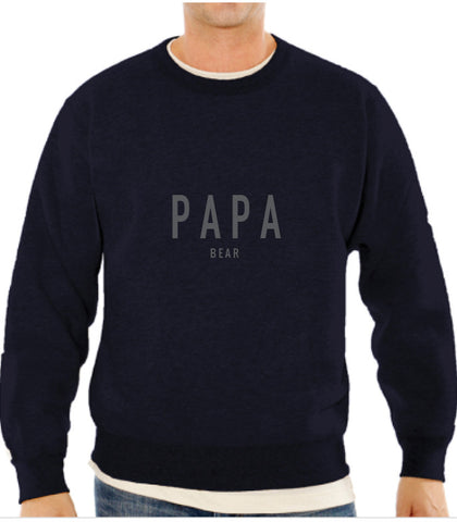 Papa Bear Men's Crew Neck Sweater, Maternity Tops Nursing Tops Canada,- Luna Maternity & Nursing