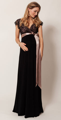 Tiffany Rose Long Maternity & Nursing Gown Rosa, Formal Maternity Dresses Toronto GTA Canada,- Luna Maternity & Nursing