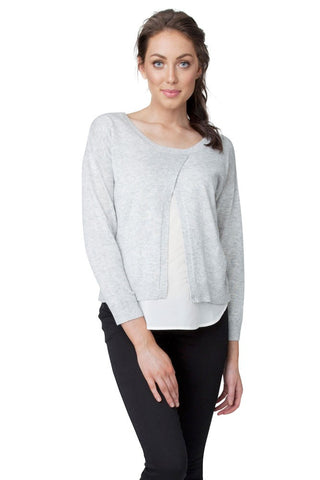 Ripe Maternity & Nursing Cross Front Sweater