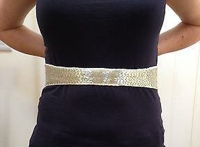 Seraphine Maternity Cream Sequin Belt, Accessories,- Luna Maternity & Nursing