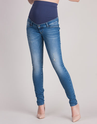 Seraphine Distressed Maternity Skinny Jeans Teigan, Designer Maternity Jeans Toronto Canada Online,- Luna Maternity & Nursing