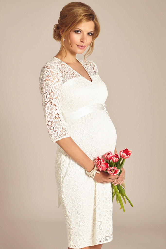 02f3d2051f Tiffany Rose Formal White Lace Maternity Dress Suzie | Canada Free Ship