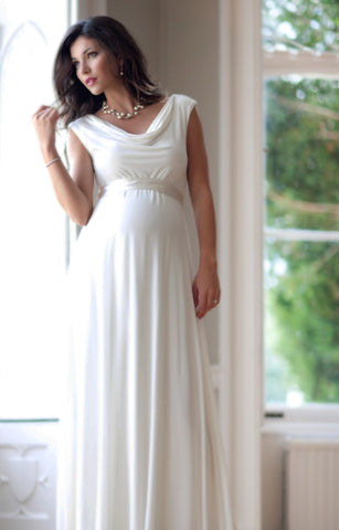 Tiffany Rose Liberty Maternity Wedding Baby Shower Gown Ivory