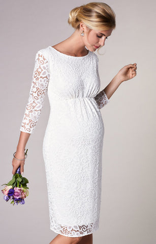 Tiffany Rose Maternity White Lace Dress Abigail
