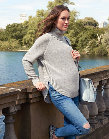 Seraphine Maternity Knitted Cape Sweater
