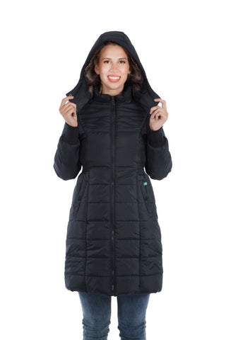 Modern Eternity Quilted Maternity & Babywearing 3-in-1 Coat, Mississauga Toronto Montreal Alberta BC,- Luna Maternity & Nursing