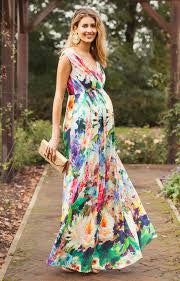 Tiffany Rose Maternity & Nursing Maxi Dress Anastasia Meadow, Maternity Dresses Canada Nursing Dresses Canada,- Luna Maternity & Nursing