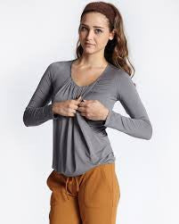 Mothers en Vogue Nursing Slouchy Top, Maternity Tops Nursing Tops Canada,- Luna Maternity & Nursing