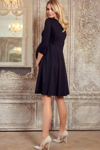 Tiffany Rose Maternity Dress Sienna Black, Maternity Dresses Canada Nursing Dresses Canada,- Luna Maternity & Nursing