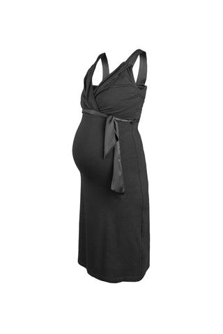 Queen Mum Crepe Maternity & Nursing Dress - Size Small, Maternity Dresses Canada Nursing Dresses Canada,- Luna Maternity & Nursing