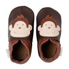 Bobux Soft Sole Chocolate Monkey 3-9 months, Babyware,- Luna Maternity & Nursing