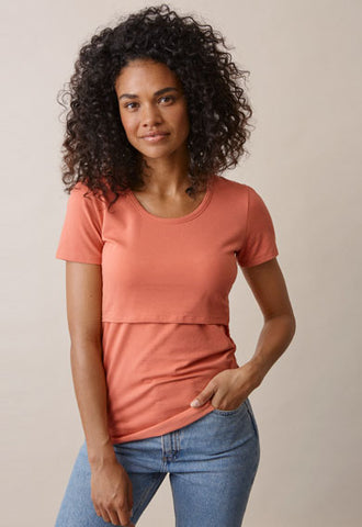 Boob Design Classic Organic Maternity & Nursing Top Short Sleeve MORE COLOURS, Maternity Tops Nursing Tops Canada,- Luna Maternity & Nursing