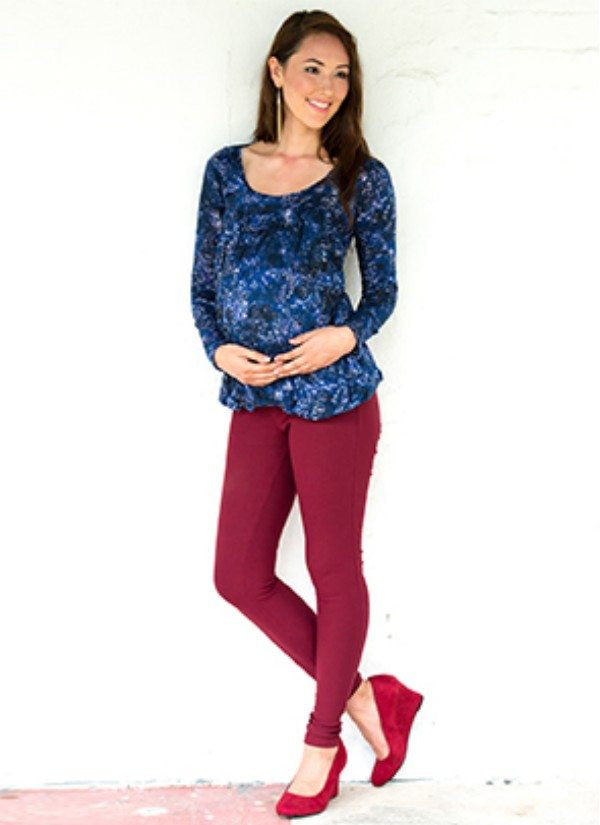 Mothers en Vogue Maternity & Nursing Britney Bubble Top, Maternity Tops Nursing Tops Canada,- Luna Maternity & Nursing