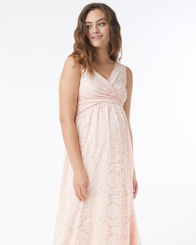 Mothers en Vogue Maternity & Nursing Maxi Dress Chantilly Pink Blush, Maternity Dresses Canada Nursing Dresses Canada,- Luna Maternity & Nursing