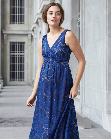 Mothers en Vogue Maternity & Nursing Maxi Dress Chantilly Blue, Maternity Dresses Canada Nursing Dresses Canada,- Luna Maternity & Nursing
