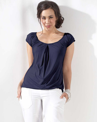 Mothers en Vogue Slouchy Pleated Nursing Top - Size XS, S, Maternity Tops Nursing Tops Canada,- Luna Maternity & Nursing