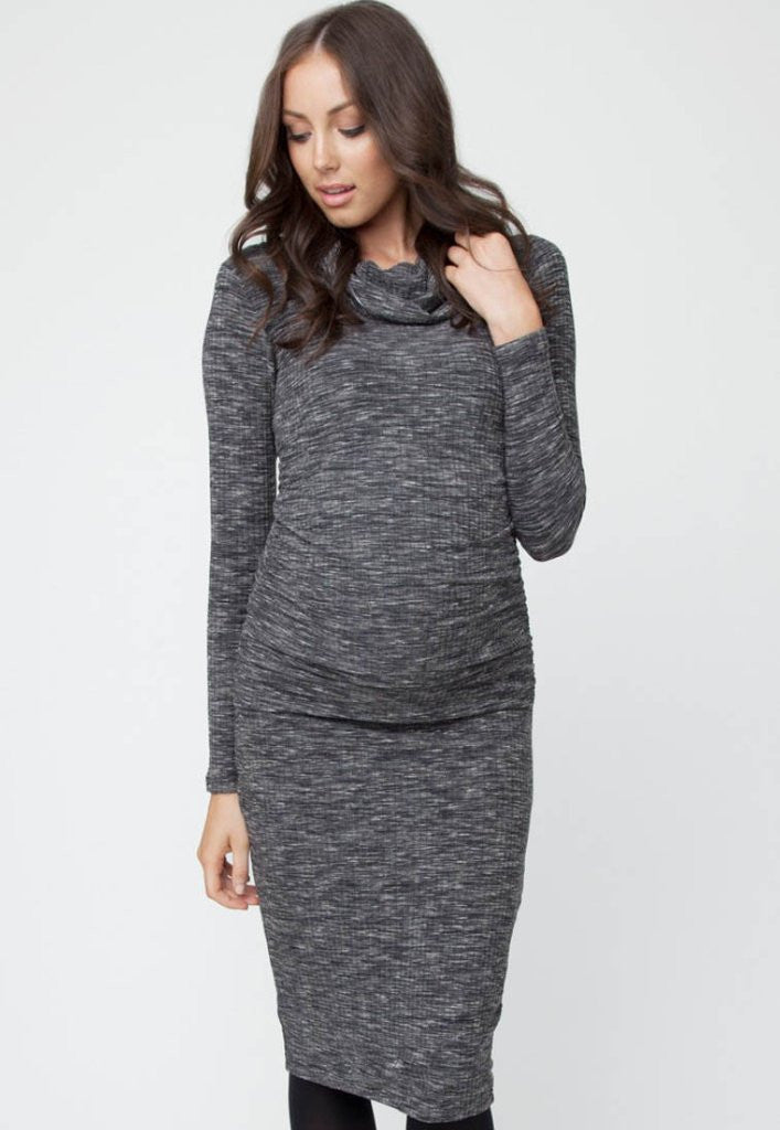 Sales promotion official store quality first Ripe Maternity & Beyond Ribbed Roll Neck Dress