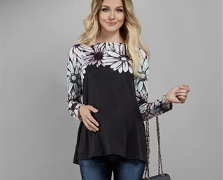 Elpasa Maternity Top Roxane, Maternity Tops Nursing Tops Canada,- Luna Maternity & Nursing
