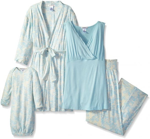 Everly Grey Mom & Baby Maternity & Nursing Set Analise Blue Chantilly, Sleepwear,- Luna Maternity & Nursing