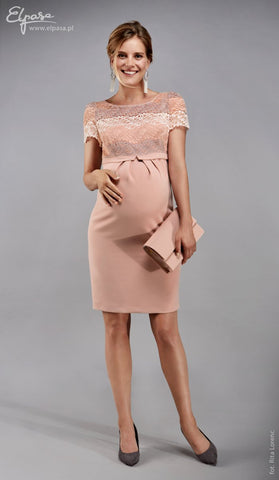 Elpasa Formal Pink Cap Sleeve Maternity Dress Noemi, Maternity Dresses Canada Nursing Dresses Canada,- Luna Maternity & Nursing
