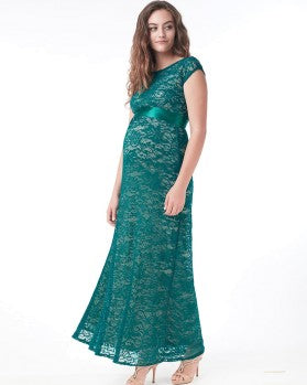 Mothers en Vogue Maternity & Nursing Maxi Dress Contessa Teal, Maternity Dresses Canada Nursing Dresses Canada,- Luna Maternity & Nursing