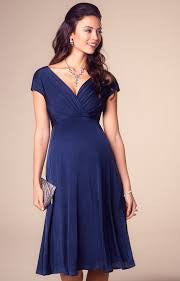 Tiffany Rose Maternity & Nursing Dress Alessandra Navy, Formal Maternity Dresses Toronto GTA Canada,- Luna Maternity & Nursing